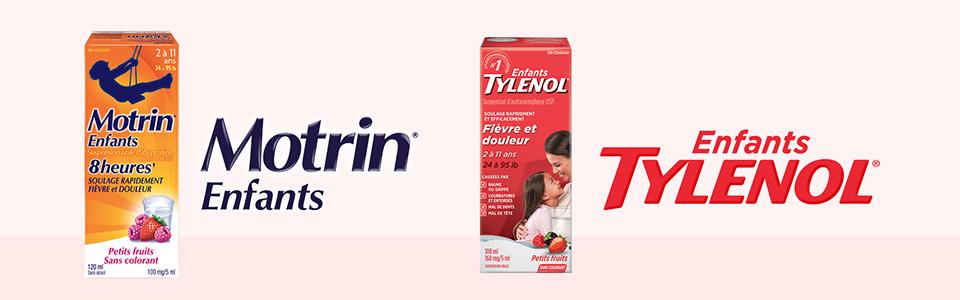 Produits Motrin et Tylenol pour enfants