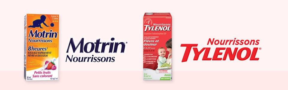 Produits Motrin Nourrissons et Tylenol Nourrissons