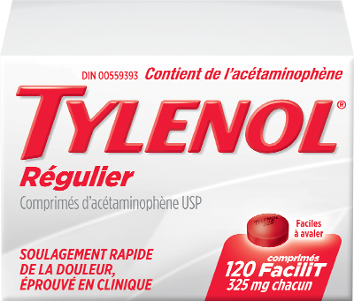 TYLENOL® Régulier comprimés facilit