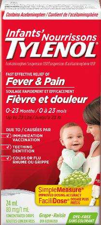 Infants' TYLENOL® Fever & Pain Grape
