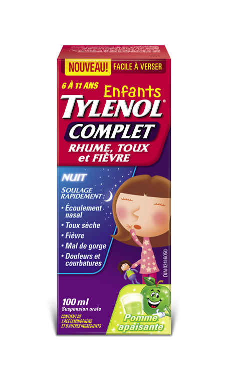 tylenol complet rhume toux et grippe pour enfants nuit tylenol. Black Bedroom Furniture Sets. Home Design Ideas