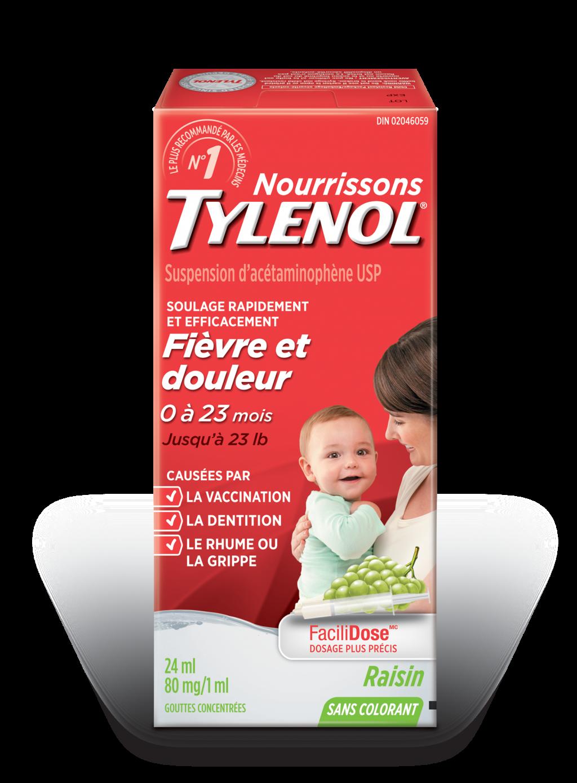 Nourrissons TYLENOL® Fièvre et douleur Raisin