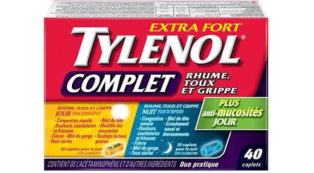 Extra Fort TYLENOL® Complet Rhume, Toux et Grippe Jour et Nuit