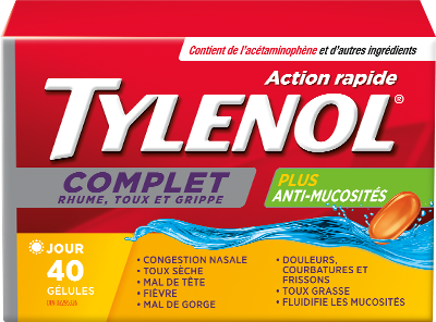Action Rapide TYLENOL® Complet Rhume, Toux et Grippe