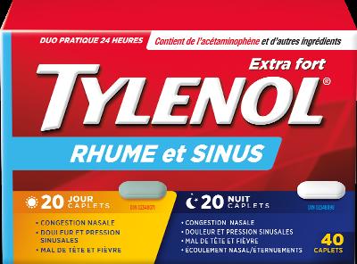 Extra Fort TYLENOL® Rhume et Sinus Jour et Nuit