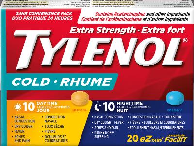 Extra Strength TYLENOL® Cold Daytime & Nighttime