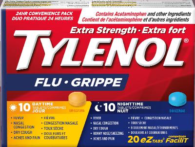 Extra Strength TYLENOL® Flu Daytime & Nighttime EZ Tabs