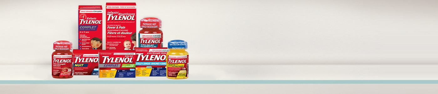 Photo de la gamme de produits Tylenol