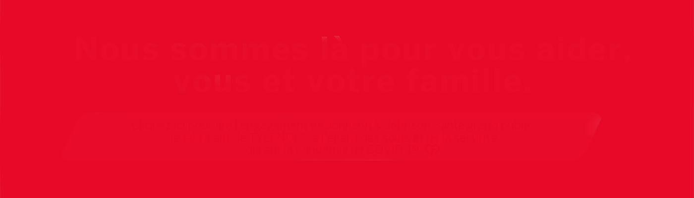 Bannière rouge Tylenol