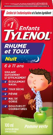 Enfants TYLENOL® Rhume et Toux Pomme Apaisante