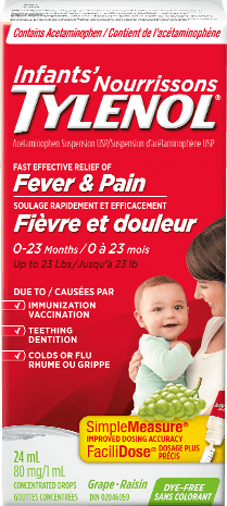 Infants' TYLENOL® Fever & Pain Grape
