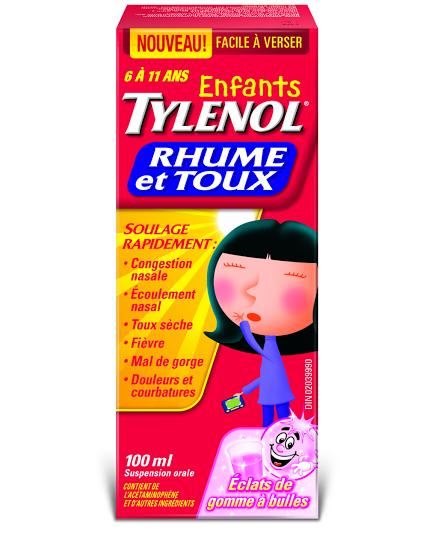 Enfants TYLENOL® Rhume et Toux Éclats de gomme à bulles