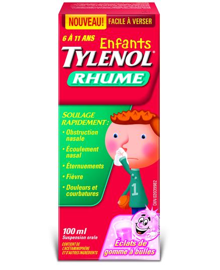 Enfants TYLENOL® Rhume Éclats de gomme à bulles