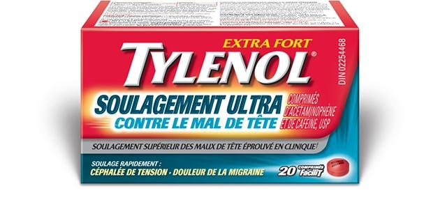 tylenol soulagement ultra contre le mal de t te tylenol. Black Bedroom Furniture Sets. Home Design Ideas