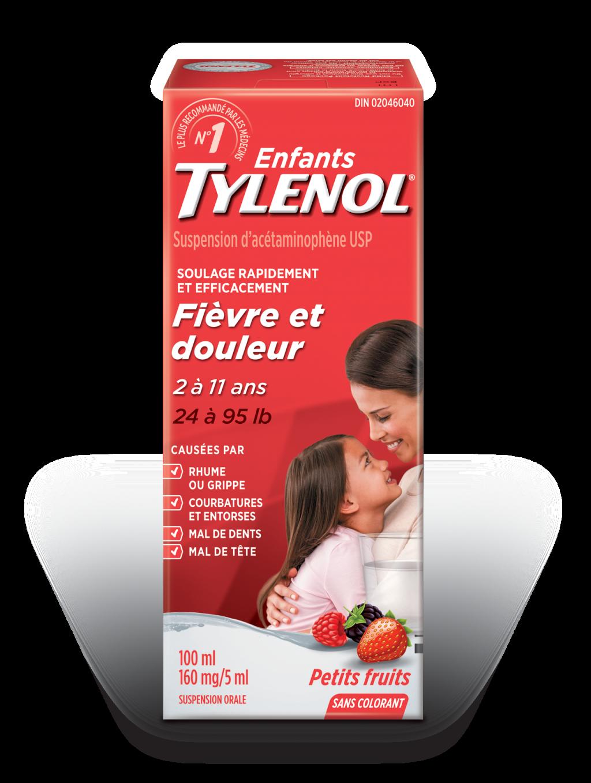 Enfants TYLENOL® Fièvre et douleur Petits fruits