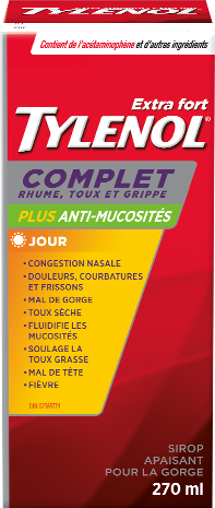 Extra Fort TYLENOL® Complet Rhume, Toux et Grippe Sirop