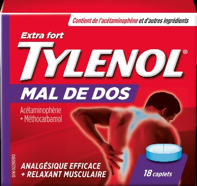 Tylenol Extra fort Mal de dos