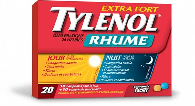 Extra Fort TYLENOL® Rhume Jour et Nuit