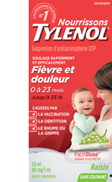 Tylenol pour nourrissons Fièvre et douleur, 24 ml