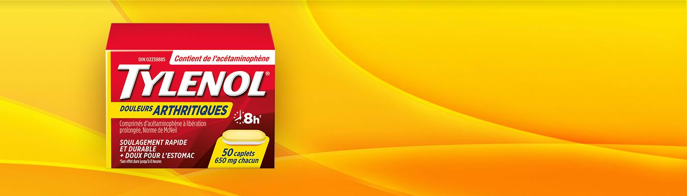 TYLENOL® Douleurs arthritiques, 50 caplets, 650 mg chacun